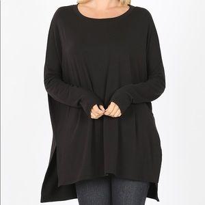 Black Tunic Length Top